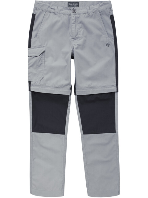 Craghoppers Kiwi Convertible - Pantalones de Trekking Niños - gris/negro